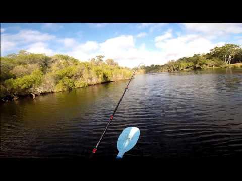 Kayak Fishing On Moore River WA 26.1.14