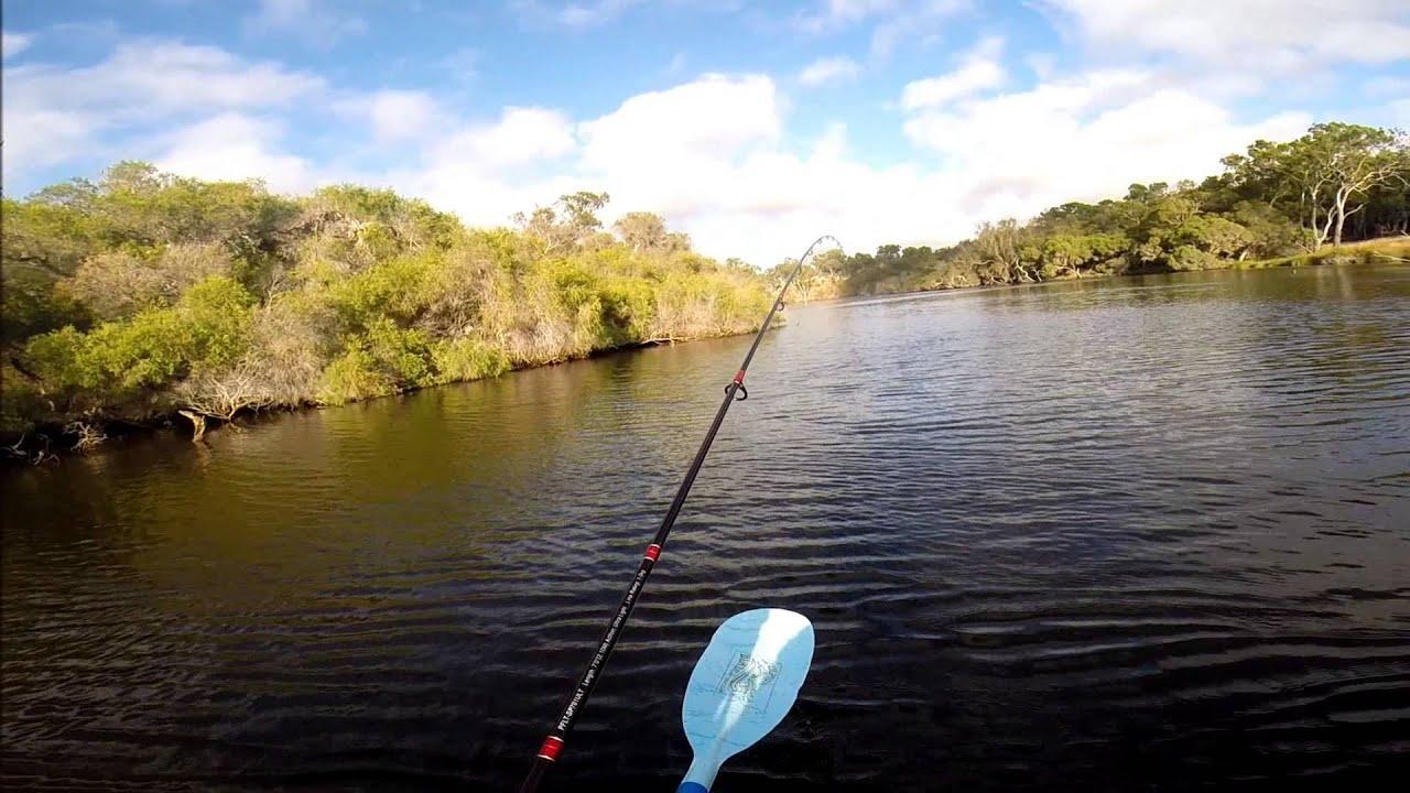 Kayak fishing on moore river wa 26 youtube for River fishing kayak