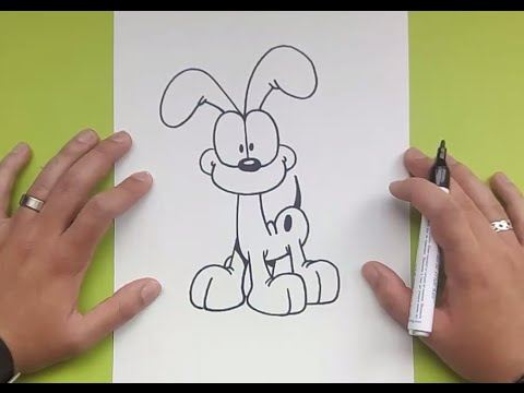 Como dibujar a Odie paso a paso  El show de garfield  How to
