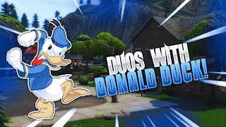 Playing Duos With Donald Duck! Hilarious😂 Fortnite Battle Royale