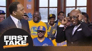 MC Hammer reacts to Warriors' Game 1 victory over Cavaliers in 2018 NBA Finals | First Take | ESPN thumbnail