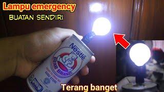Wajib dicoba buat lampu emergency dari kaleng bekas
