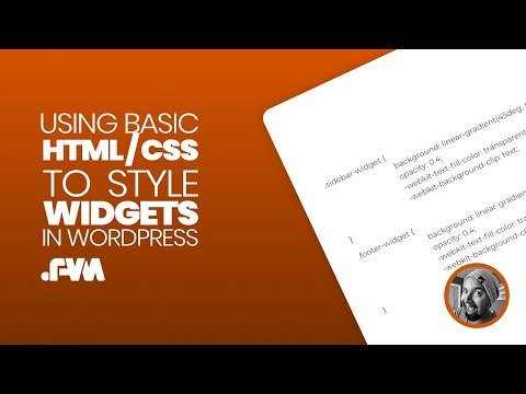 How To Use Basic HTML And CSS To Style Widgets In WordPress Sidebar