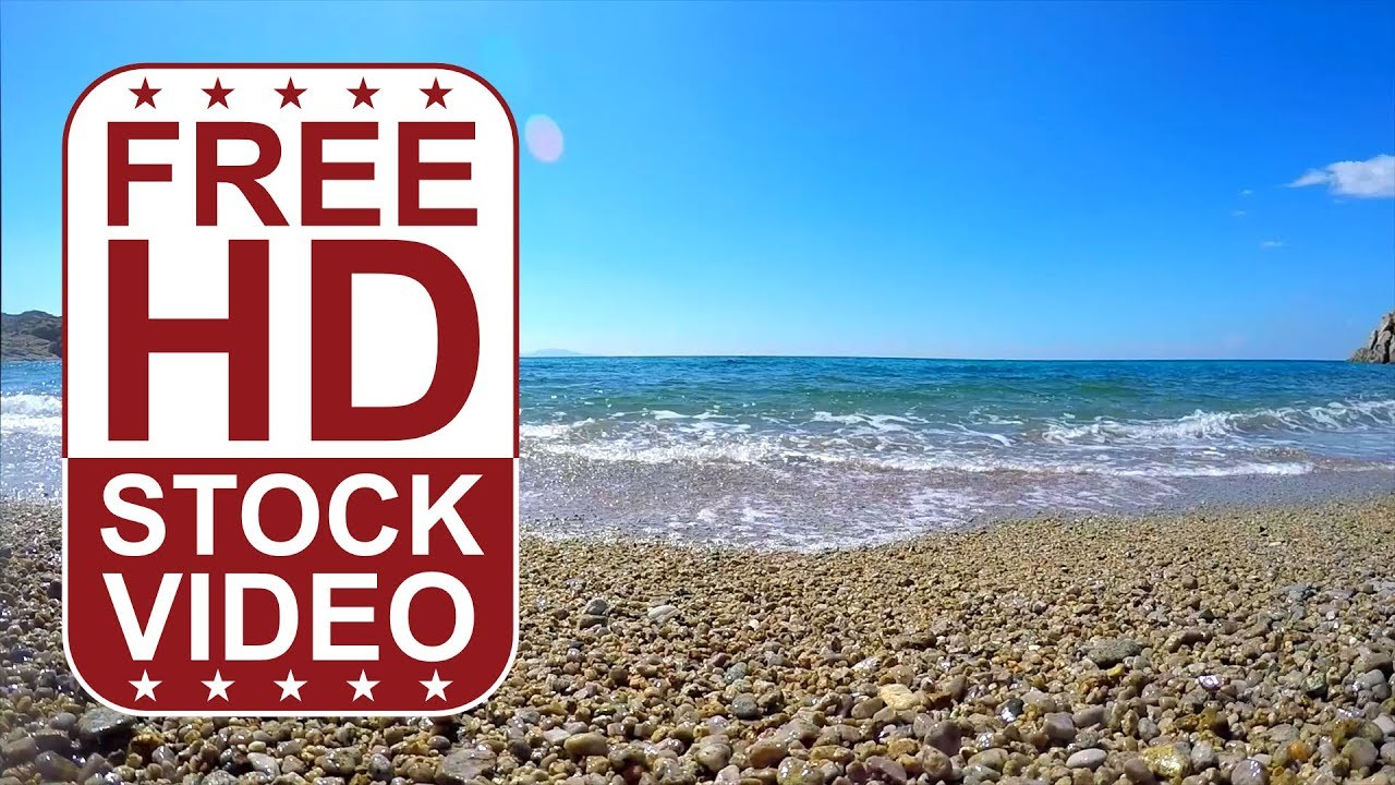 free hd video backgrounds – gopro hero4 footage summer time beach