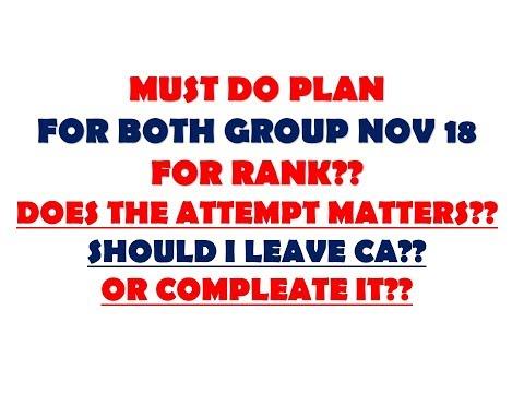 PLAN FOR RANK??FOR CA IPCC NOV 2018 ONLY FOR RANKHOLDERS