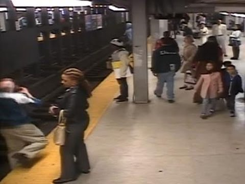 Man Falls on Subway Tracks and Pulled to Safety