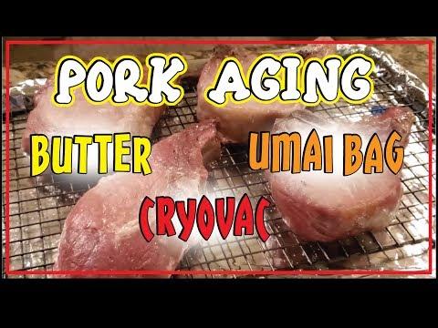 Pork Aging Test Umai v Butter v Cyrovac Aged How-To BBQ Champion Harry Soo SlapYoDaddyBBQ.com