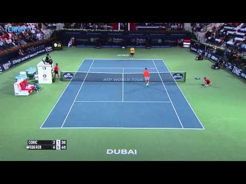 ATP Dubai Duty Free Championships Semi Finals - Federer v Coric & Djokovic v Berdych