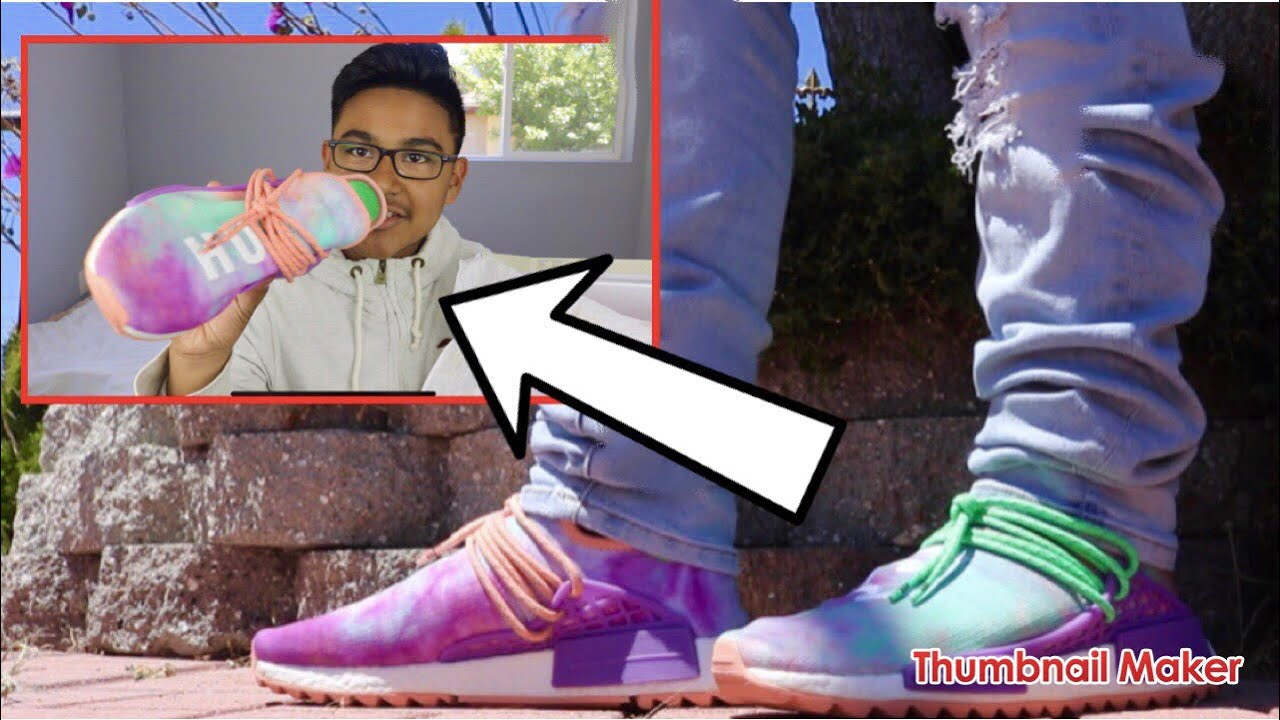 "4d7d57637 ADIDAS HUMAN RACE NMD PHARRELL HOLI ""CHALK CORAL"" UNBOXING AND REVIEW (ON  FEET!!)🔥"