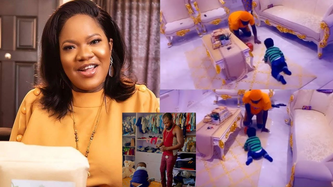 Download WATCH Toyin Abraham Showoff Her Husband And Son As They Have A Good Time And Bond In Their...