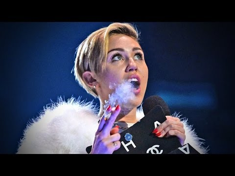 Miley Cyrus SMOKES JOINT ON STAGE and TWERKS on a LITTLE PERSON