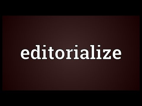 Header of editorialize