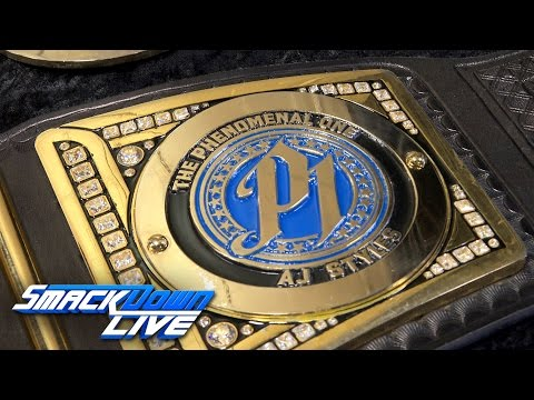 AJ Styles' personalized plates get added to the WWE World Championship: Sept. 13, 2016