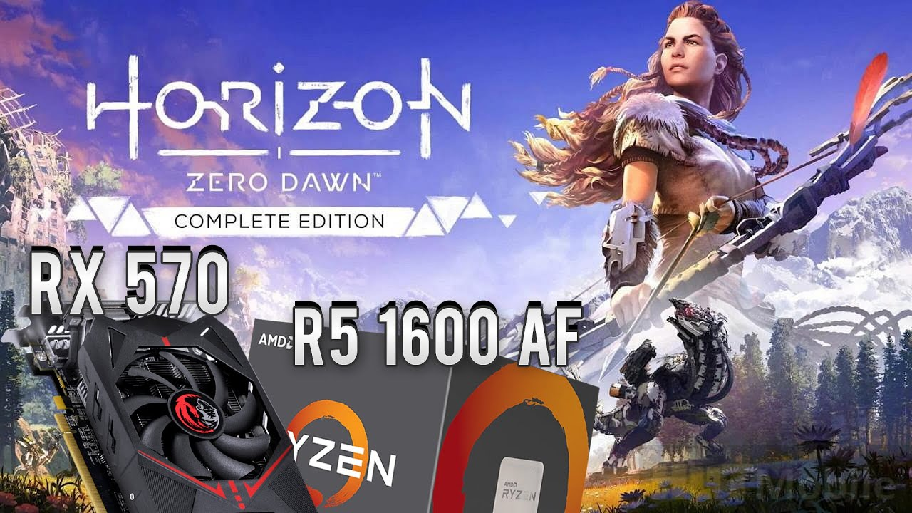 Horizon Zero Dawn PC com Ryzen 5 1600AF e RX 570 - Sofreu para 60 FPS, mas conseguimos rodar (1080p)