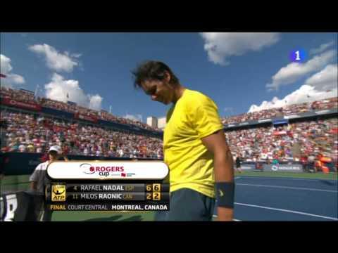 Rafa Nadal vs. Milos Raonic 6-2 y 6-2  Final Montreal 2013
