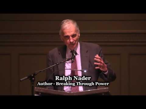 Ralph Nader - Breaking Through Power - Town Hall Seattle - 10/21/16