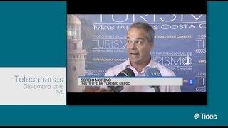 El Dr, Sergio Moreno Gil durante su participación acerca del conocimiento turístico en IV FIT