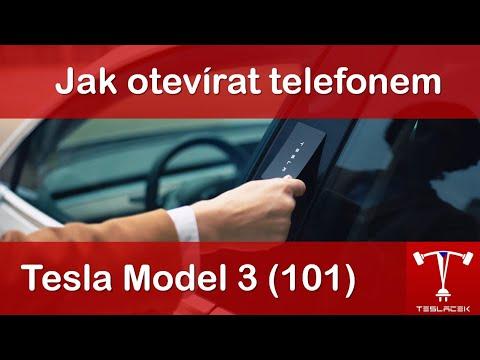 #121 Tesla Model 3: Jak nastavit telefon jako klíč | Teslacek
