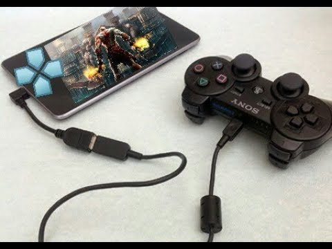 How to connect joystick to android with no root and play God of War in  ppsspp