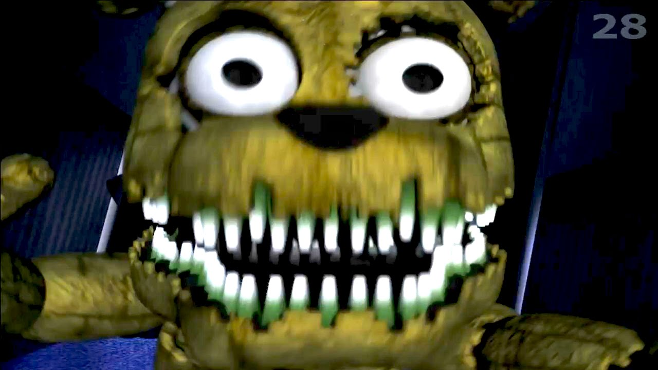 five nights at freddy s 4 plushtrap jumpscare plushtrap attack