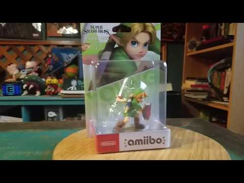 Young Link Amiibo Legend Of Zelda Super Smash Bros Nintendo Figure Review
