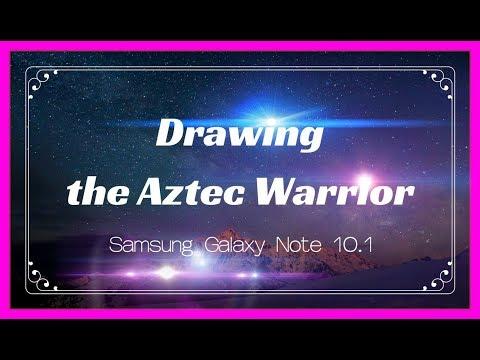 Drawing the Aztec Warrior Art | Part 1 ✔