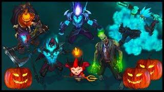 All Halloween Skins Spotlight Death Sworn Underworld Zombie Bewitching (League of Legends)