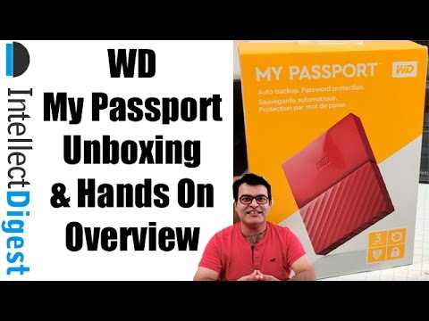 Wd My Port Portable External Hard Drive Unboxing And Hands With Test
