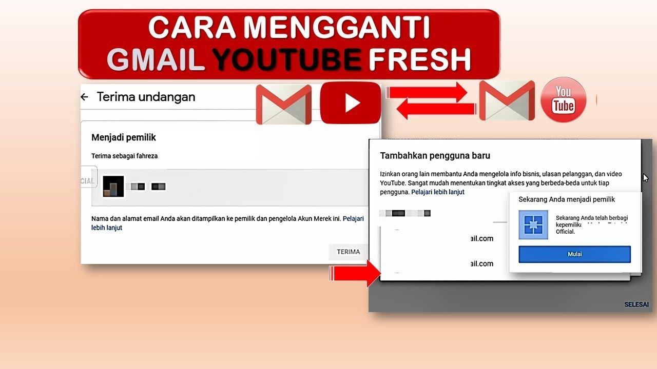 Cara Mengganti Email Akun Youtube Youtube