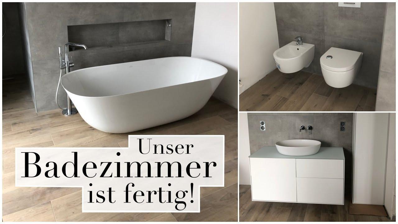 Unser Badezimmer Ist Fertig I Freistehende Badewanne I Kinderzimmer Mobel Aufbauen Youtube