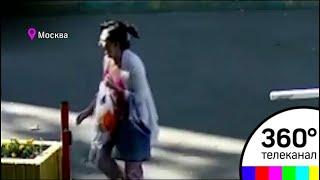 Смотреть видео Убийство женщины экс-супругом в Москве попало на видео онлайн
