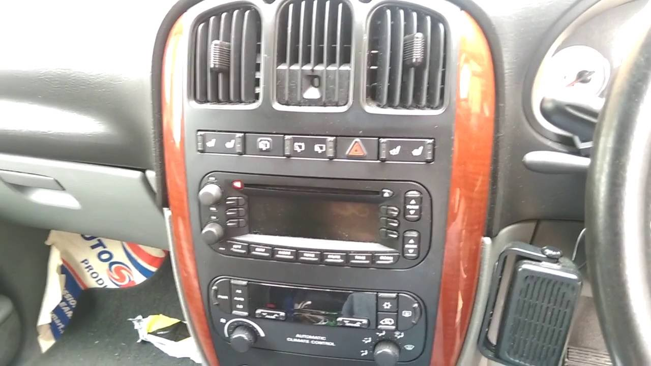 small resolution of chrysler dodge grand voyager caravan 2004 2001 2007 radio removal youtube