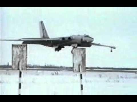 Last landing of Russian Myasishchev bomber on March 21 1994