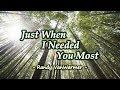 Download MP3 Just When I Needed You Most - Randy Vanwarmer  Kar