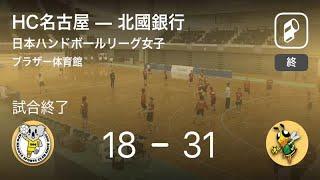 【日本ハンドボールリーグ女子5週目】北國銀行がHC名古屋に大きく点差をつけて勝利