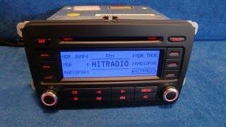 VW Volkswagen RCD 300 / CD Radio Autoradio carradio car 1K0035186J 1K0035186P 1K0035186R