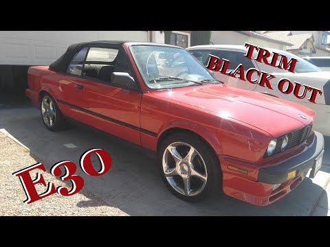 Black Out Chrome Trim BMW E30-Project Daily Drifter