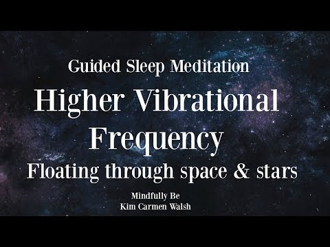 😴 Higher vibrational frequency ~ Floating through space & stars ~ Guided sleep meditation