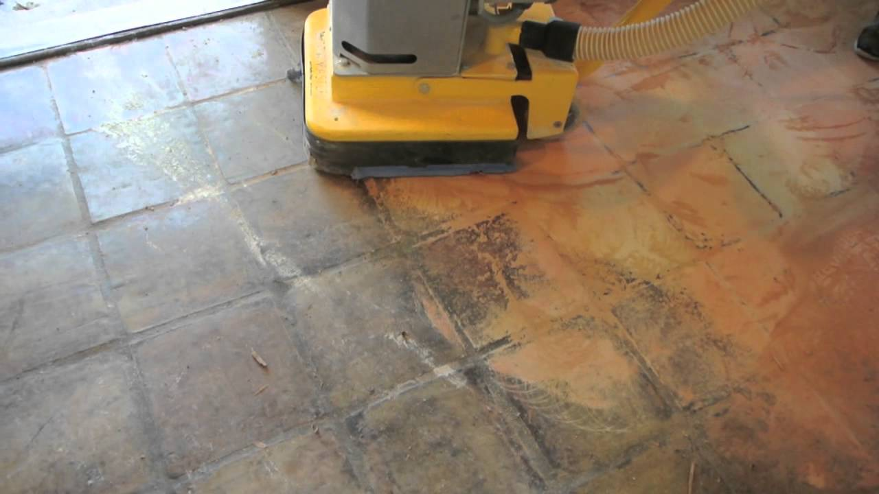 Grinding Saltillo Tile Youtube