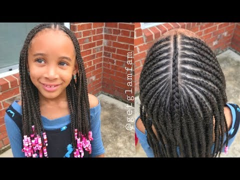 Cute Kids Braids With Beads Youtube