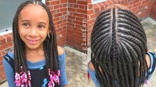 Cute kids braids with beads