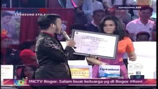 Ikke Nurjannah - Mendapatkan Penghargaan - Kontes Final KDI 2015 (8/5)