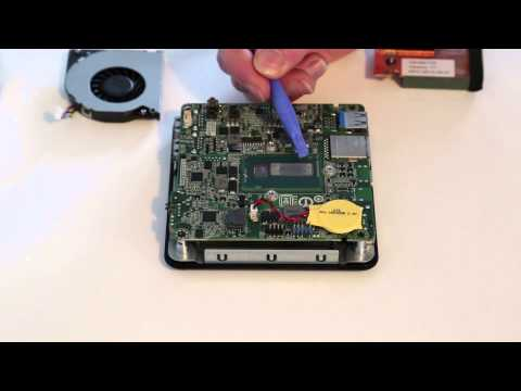Intel NUC D54250WYK - Motherboard and cooler removal