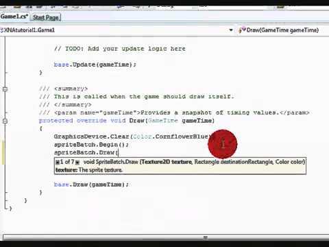 C# Xna Beginner Tutorial1 Part 1, Sprites   YouTube