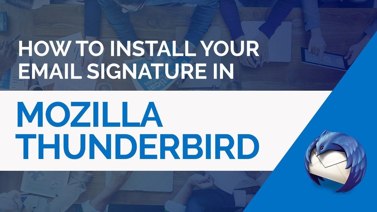 Thunderbird Windows HTML Email Signature Installation Guide