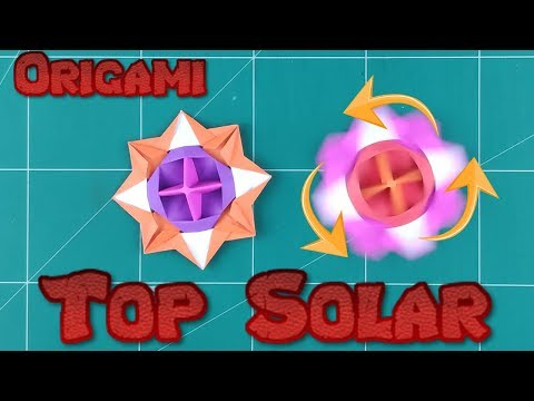How to Make a Paper Spinner Battle Blade Tutorial | Origami Top Solar Phoenix Toy Paper
