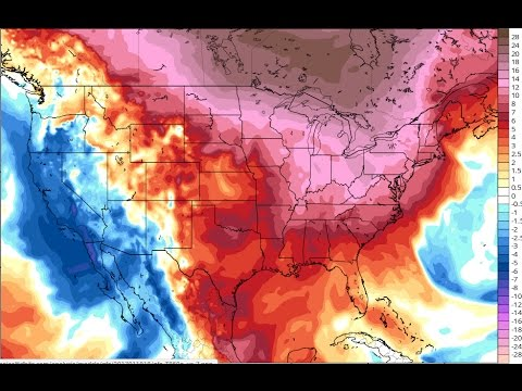 Forecast Update: Extremely warm Temps Followed by Cold