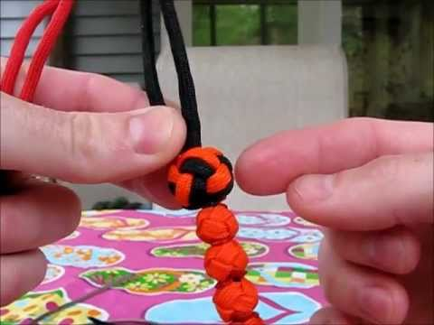 Paracordist How To tie a lanyard knot, doubled with 4 strands out as seen on my ranger beads
