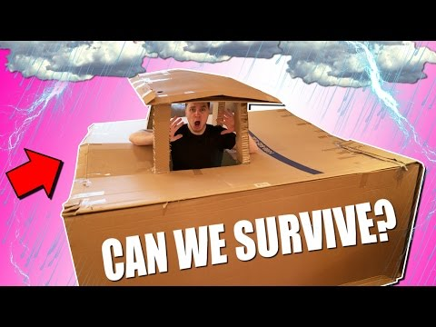 "ULTIMATE BOX FORT Vs THUNDERSTORM CHALLENGE ""Will We Survive?"""