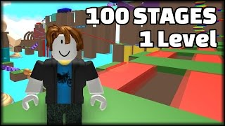 100 STAGES IN 1 LEVEL | ROBLOX